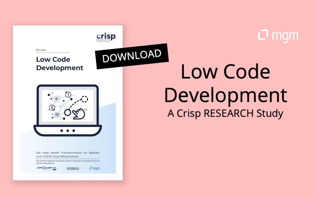 Low Code Development – Recommendations for planning and implementation
